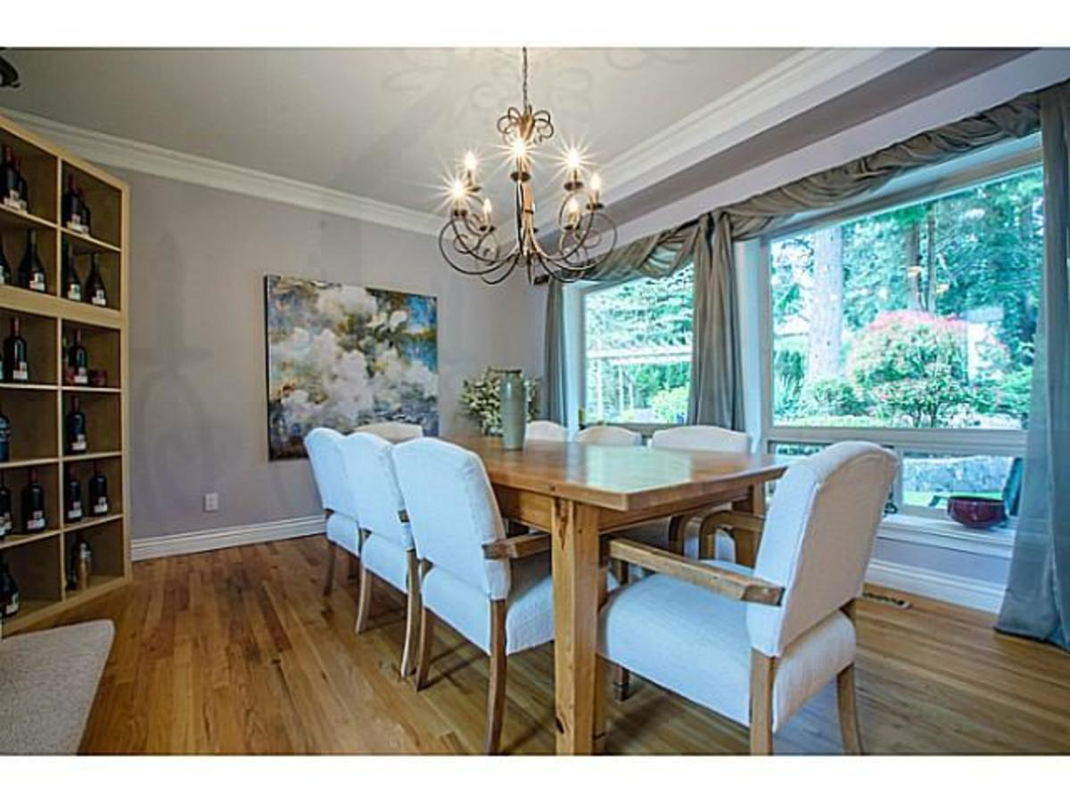 3303 Huntleigh Crt. Dining at 3303 Huntleigh Court, Windsor Park NV, North Vancouver