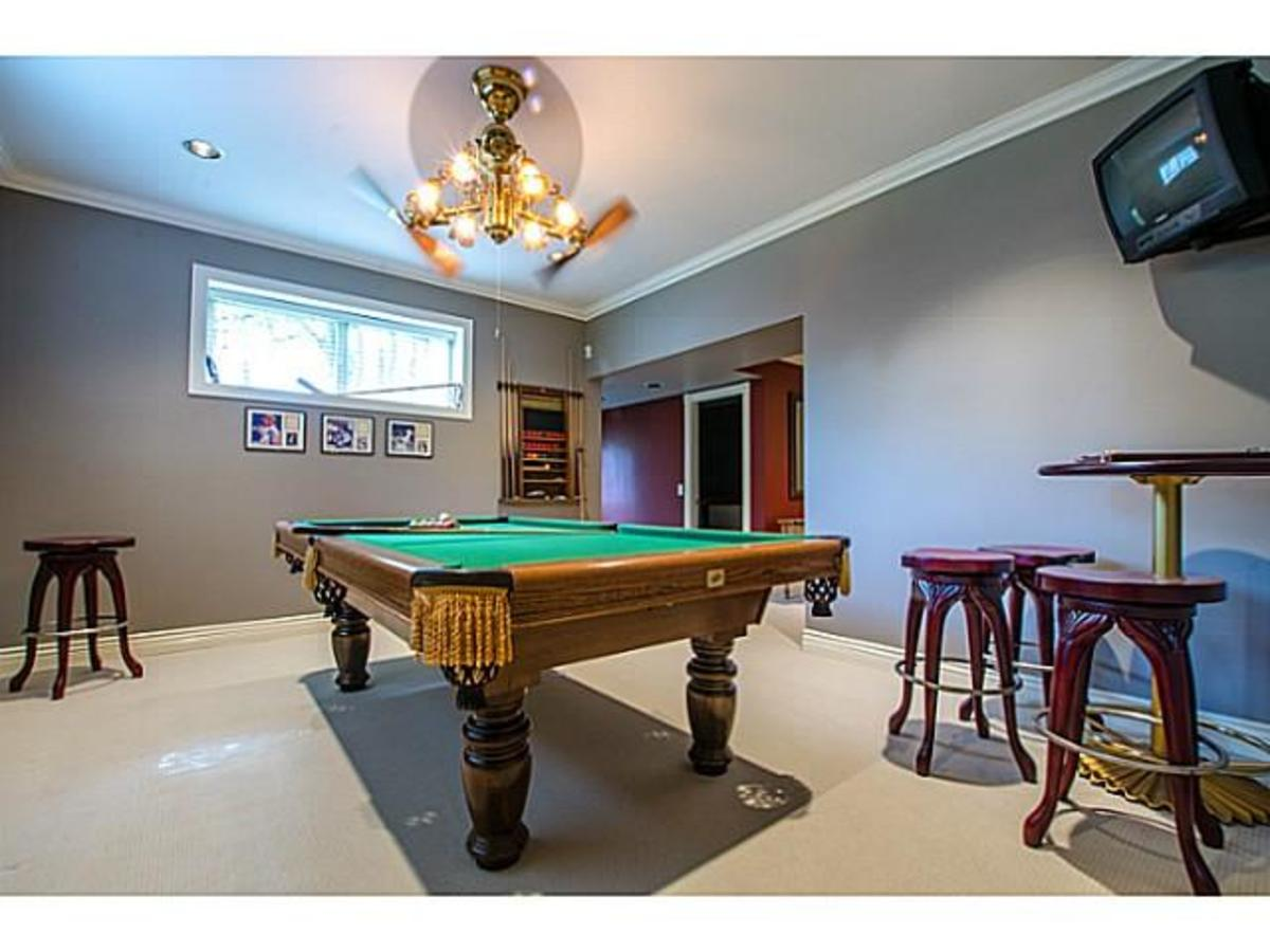 3303 Huntleigh Crt. Games Room at 3303 Huntleigh Court, Windsor Park NV, North Vancouver