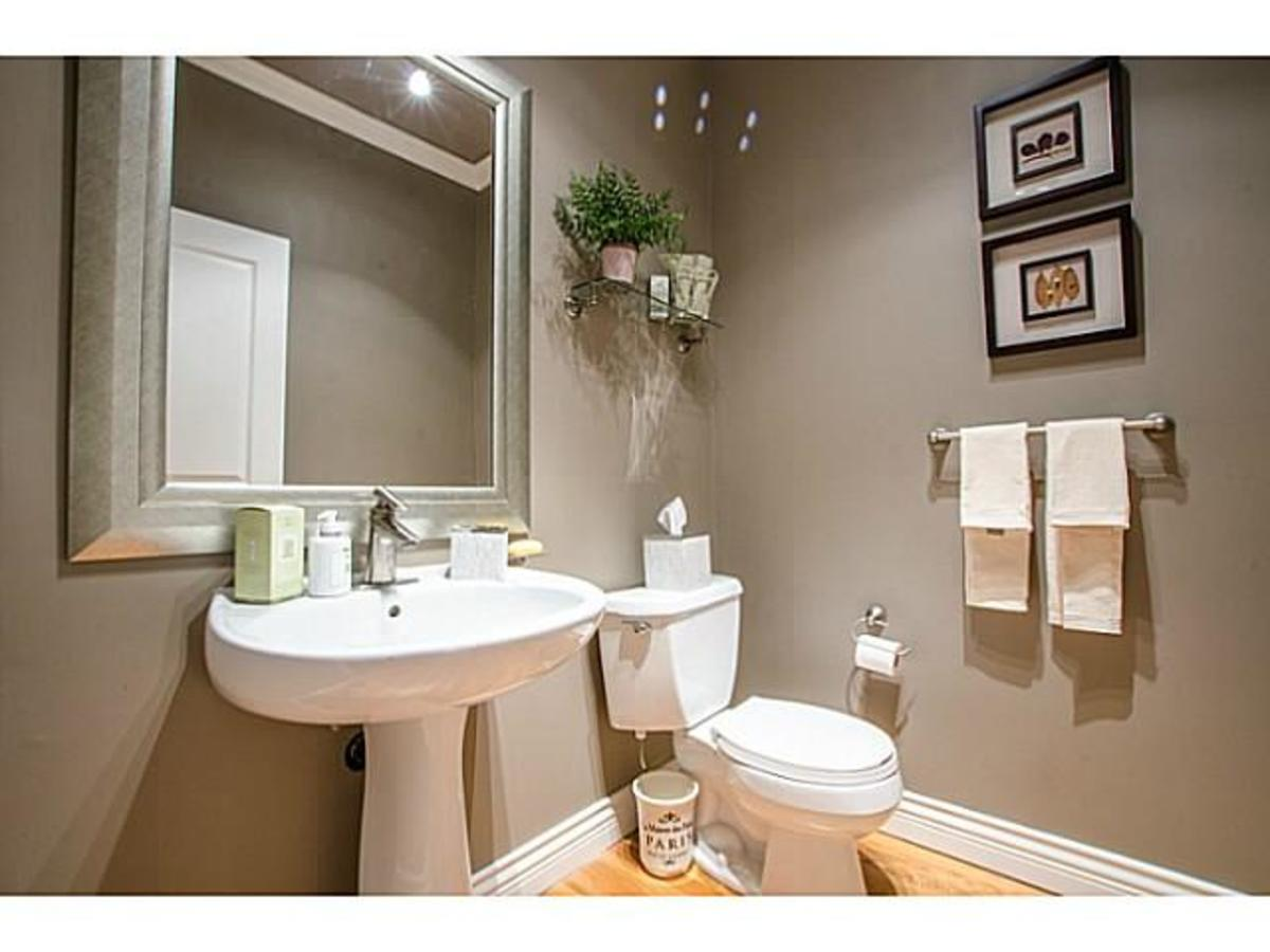 3303 Huntleigh Crt. Powder Room at 3303 Huntleigh Court, Windsor Park NV, North Vancouver