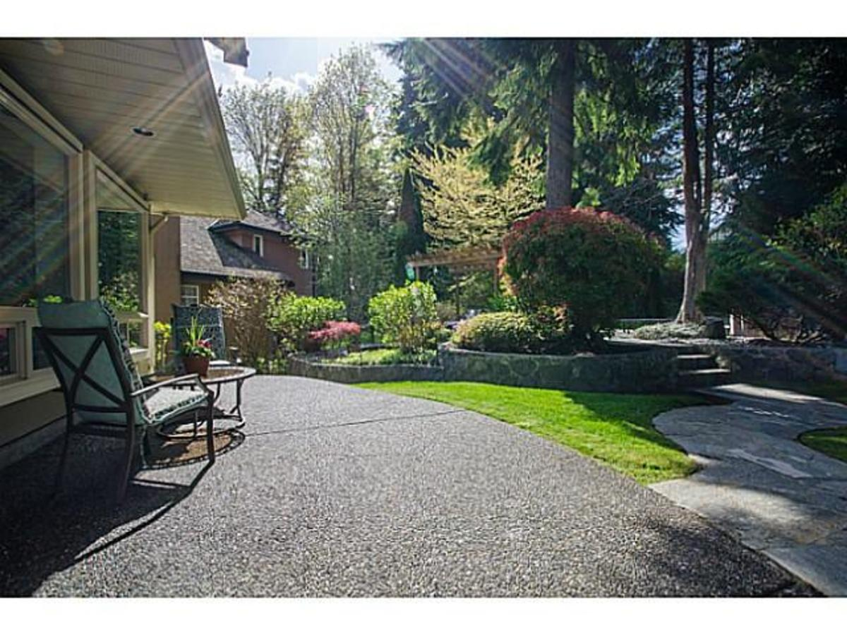 3303 Huntleigh Crt. Rear Yard at 3303 Huntleigh Court, Windsor Park NV, North Vancouver