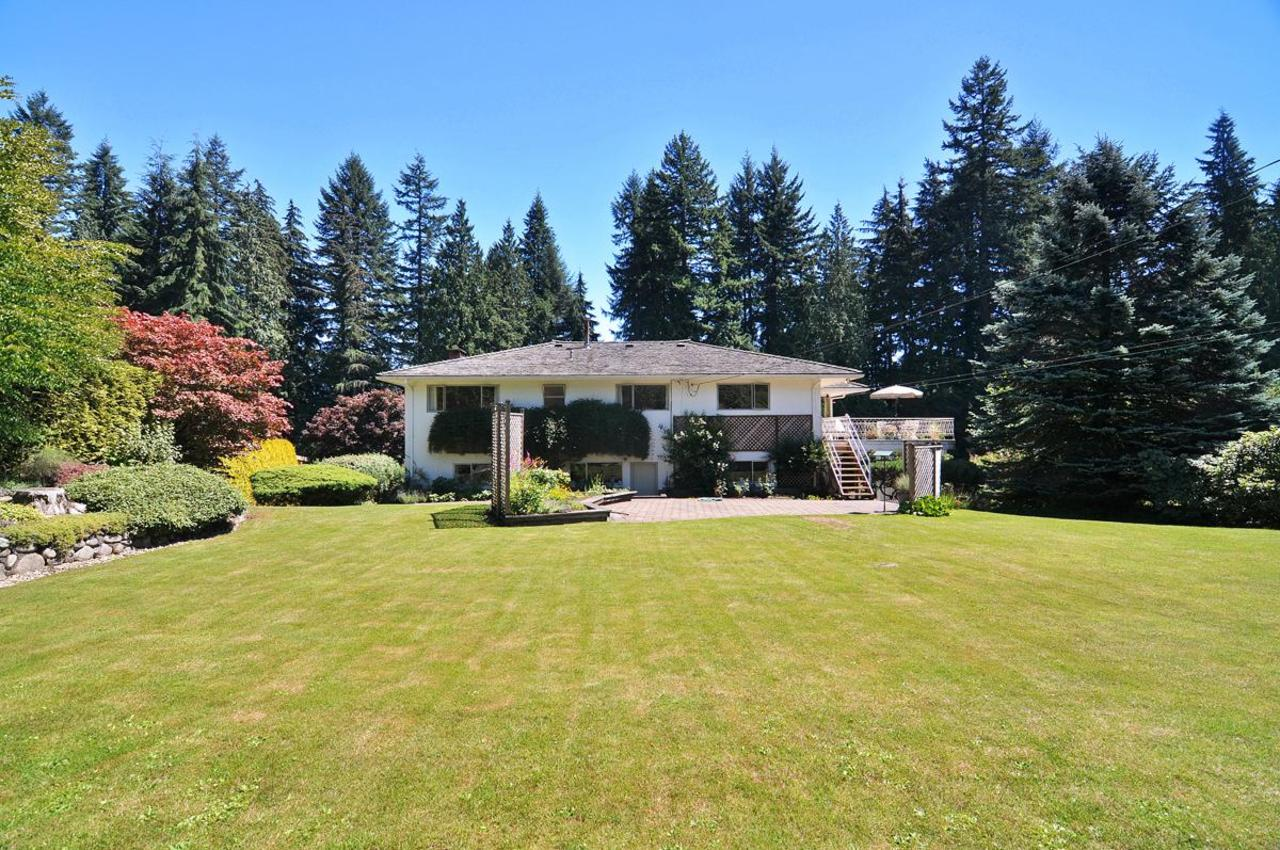 Rear Yard 5 at 409 Southborough Drive, British Properties, West Vancouver