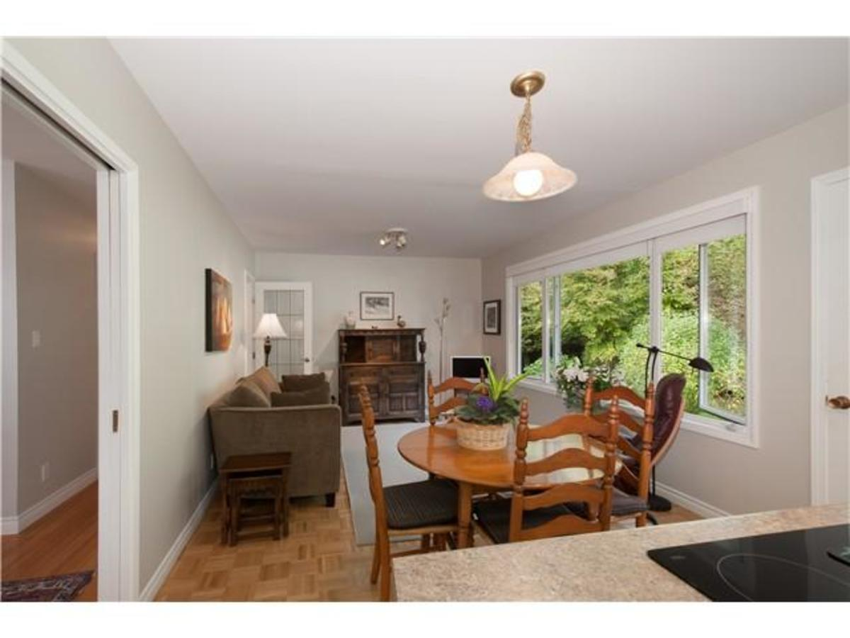 4095 Ripple Rd Eating Area & Family Room at 4095 Ripple Road, Bayridge, West Vancouver
