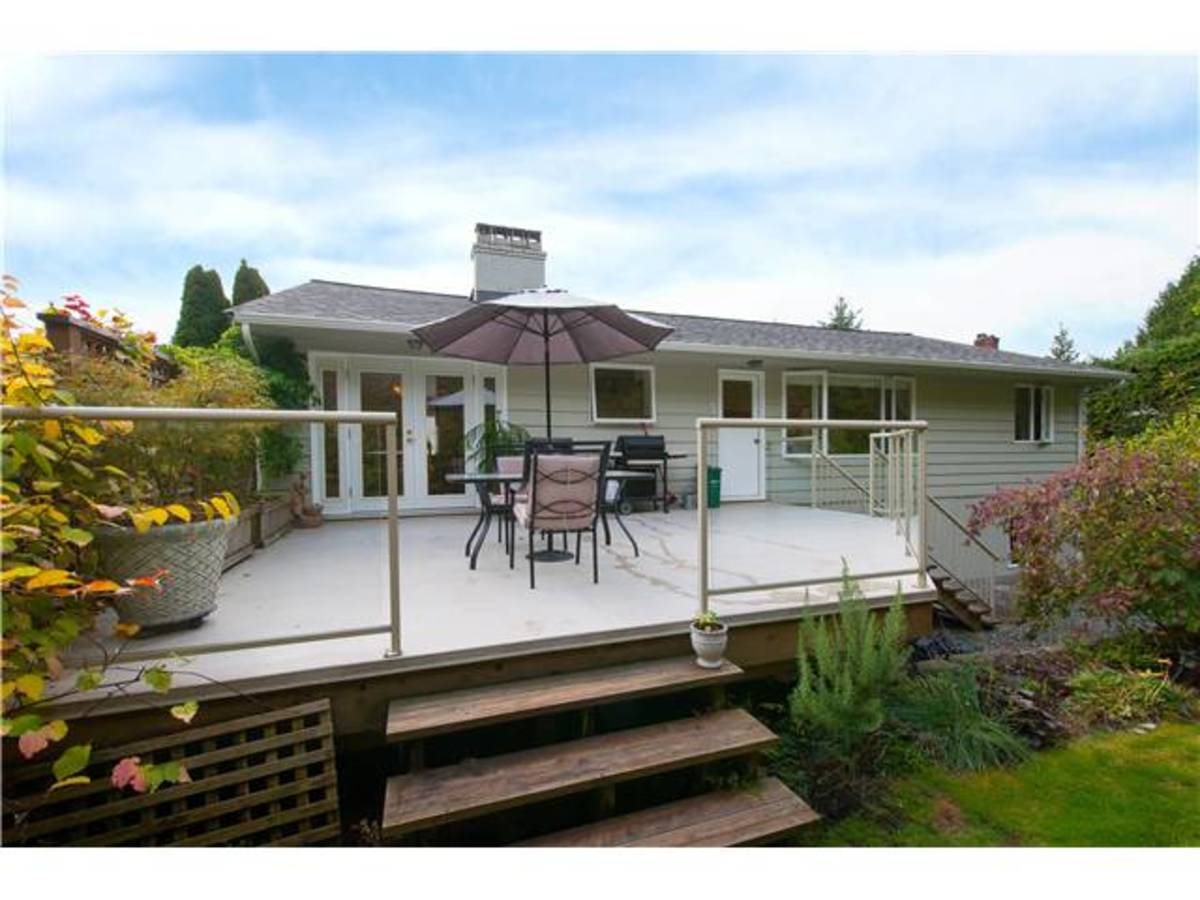 4095 Ripple Rd Rear Deck at 4095 Ripple Road, Bayridge, West Vancouver