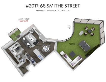 2017_68_smithe_street_3d_main_floor at 2017 - 68 Smithe Street, Downtown VW, Vancouver West