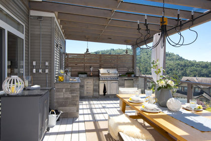 Sundeck-Patio-Balcony-Exterior-Kitchen-BBQ-Barbeque at 3355 Goldstream Drive, Abbotsford East, Abbotsford
