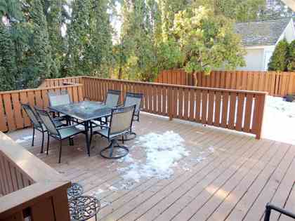 Exterior -Deck-Patio-Back Yard-Sundeck-Fenced Yard at 2376 Anora Drive, Abbotsford East, Abbotsford