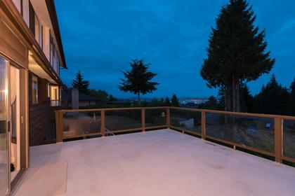 Patio View at 1380 Cammeray Road, Chartwell, West Vancouver
