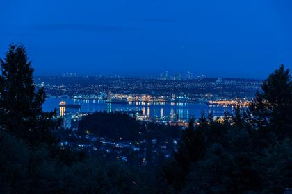 Night View at 1380 Cammeray Road, Chartwell, West Vancouver