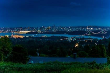 Night View at 839 Eyremount Drive, British Properties, West Vancouver