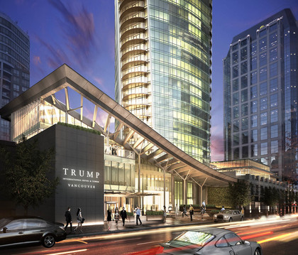 Hotel Front Exterior at  Trump International Hotel And Tower, Downtown VW, Vancouver West