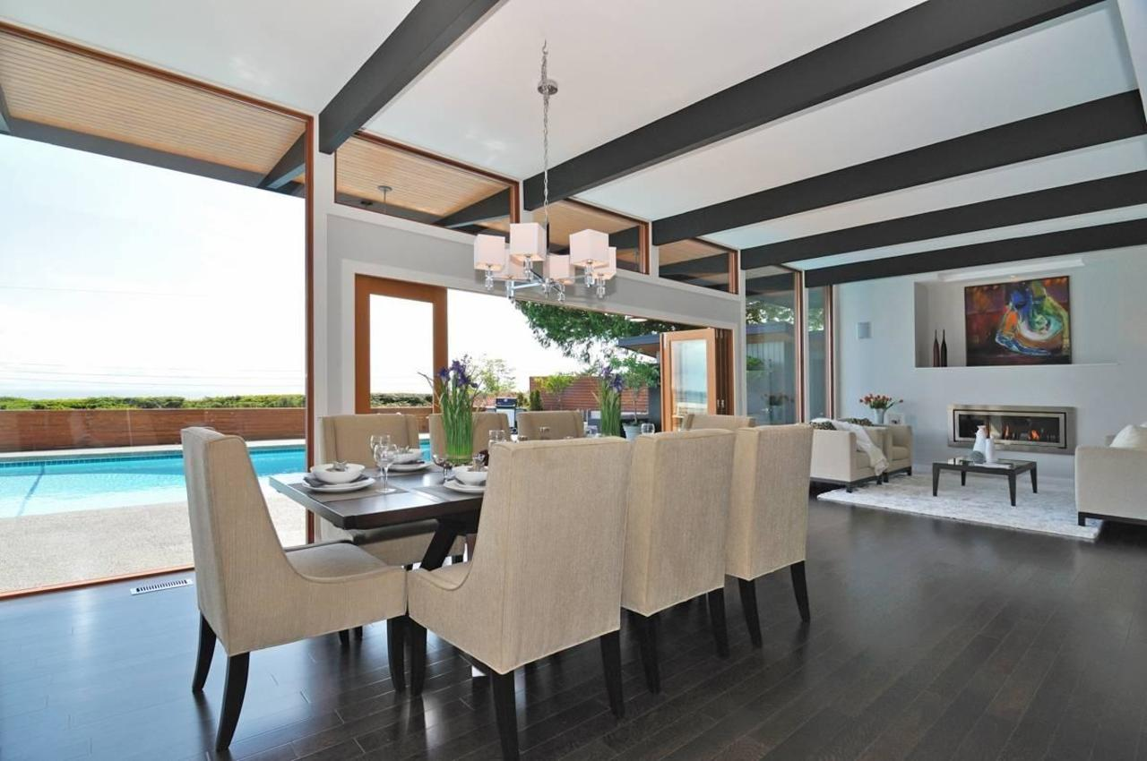 Formal Dining at 4125 Burkehill Place, Bayridge, West Vancouver