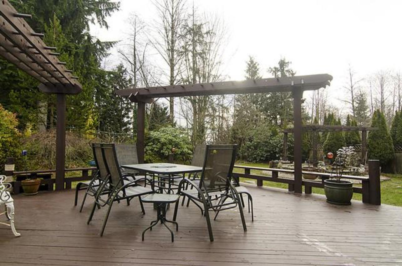 Backyard Deck at 1559 Topaz Court, Westwood Plateau, Coquitlam
