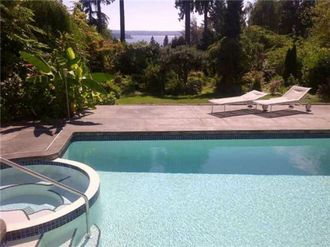 Pool and View at 1720 Ottawa Avenue, Ambleside, West Vancouver