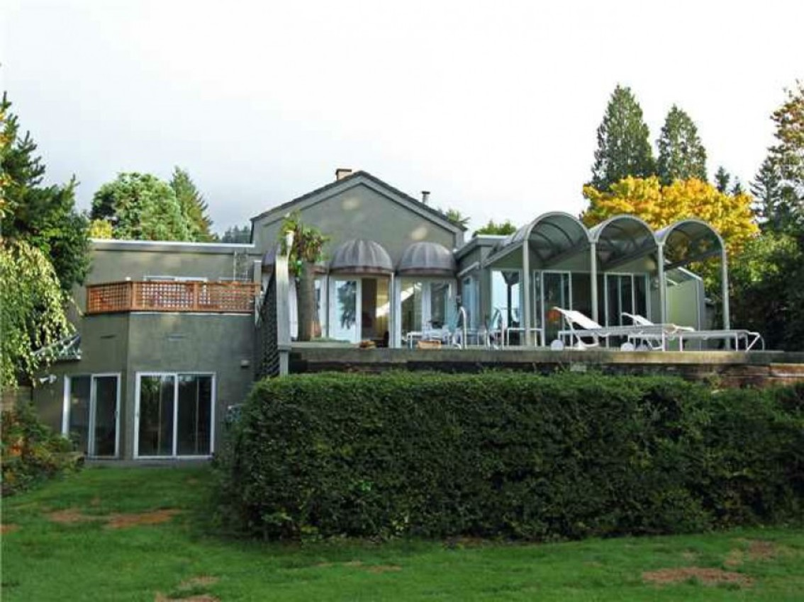 Exterior Back at 1720 Ottawa Avenue, Ambleside, West Vancouver