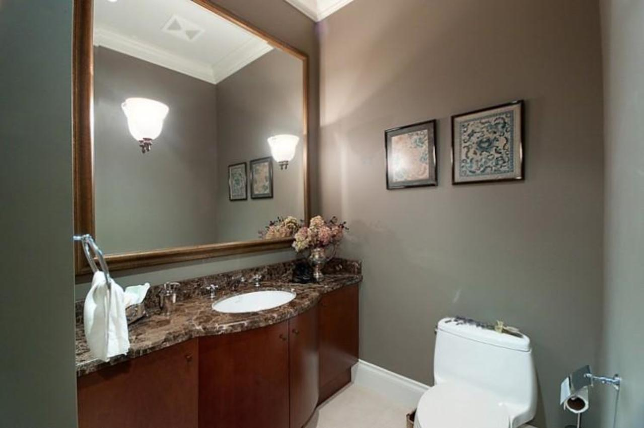 Powder Room at 2378 Constantine Place, Panorama Village, West Vancouver