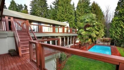 Exterior Back at 2927 Altamont Crescent, Altamont, West Vancouver