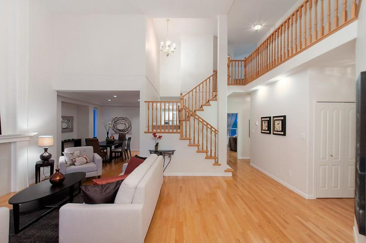 Staircase at 1702 Sugarpine Court, Westwood Plateau, Coquitlam