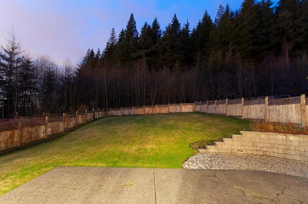 Backyard at 1702 Sugarpine Court, Westwood Plateau, Coquitlam