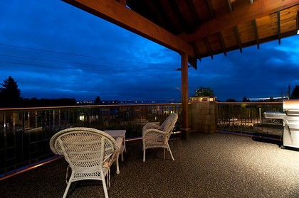 Covered Patio at 937 23rd Street, Dundarave, West Vancouver