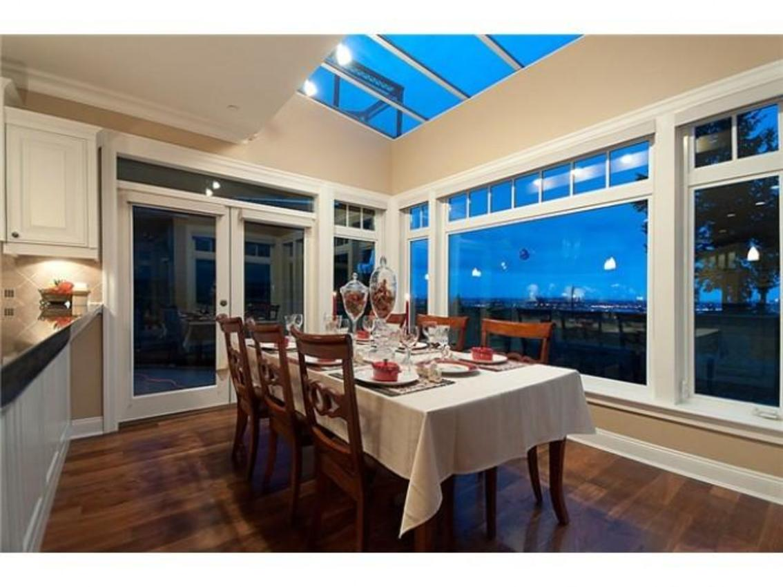 Family Eating Area at 760 Eyremount Drive, British Properties, West Vancouver