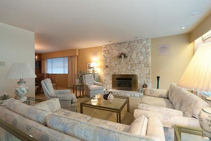 Living Room at 969 Groveland Road, British Properties, West Vancouver