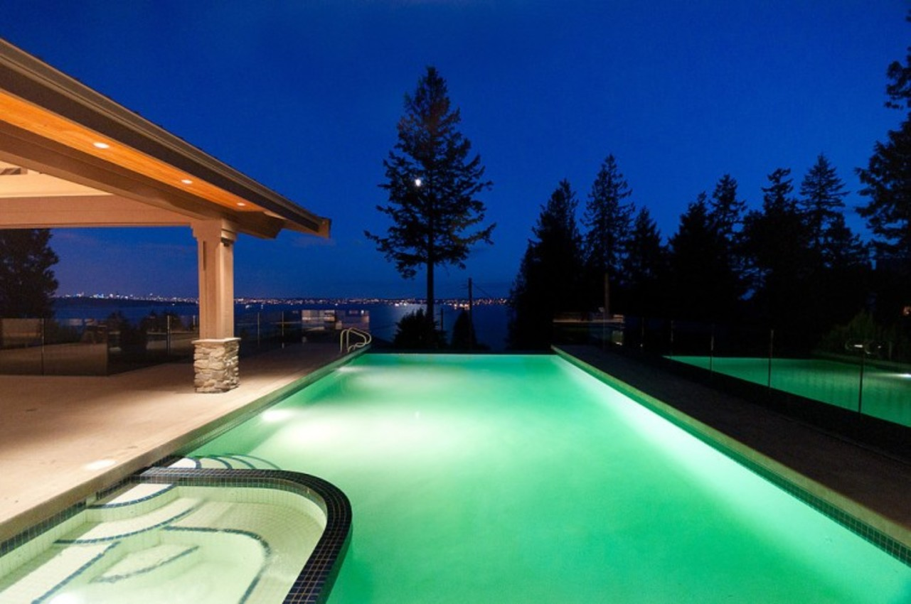 Pool and View at 3375 Craigend Road, Westmount WV, West Vancouver