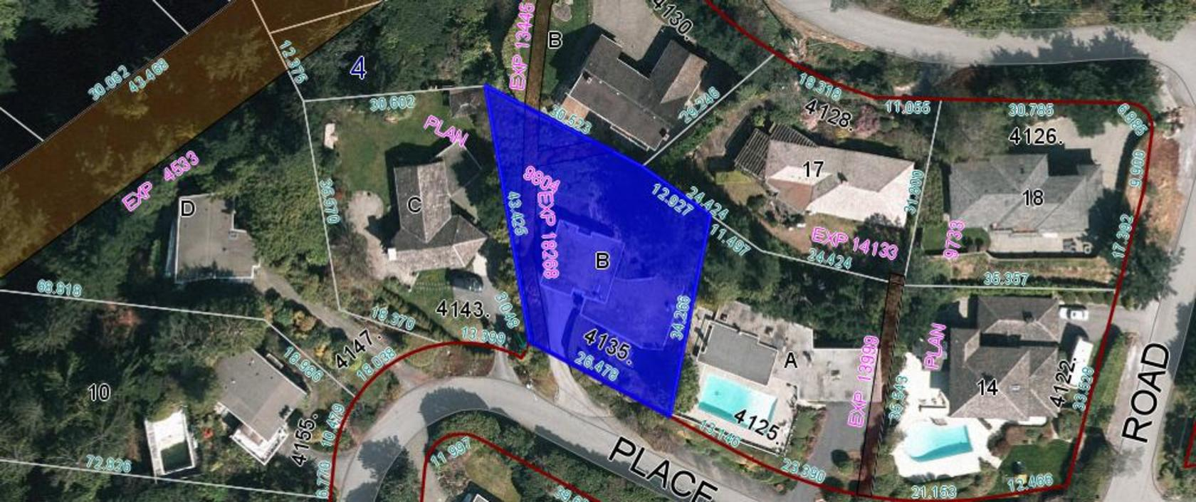 GIS Map at 4135 Burkehill Place, Bayridge, West Vancouver