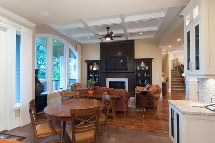 Family Eating Area at 683 Sylvan Avenue, Canyon Heights NV, North Vancouver