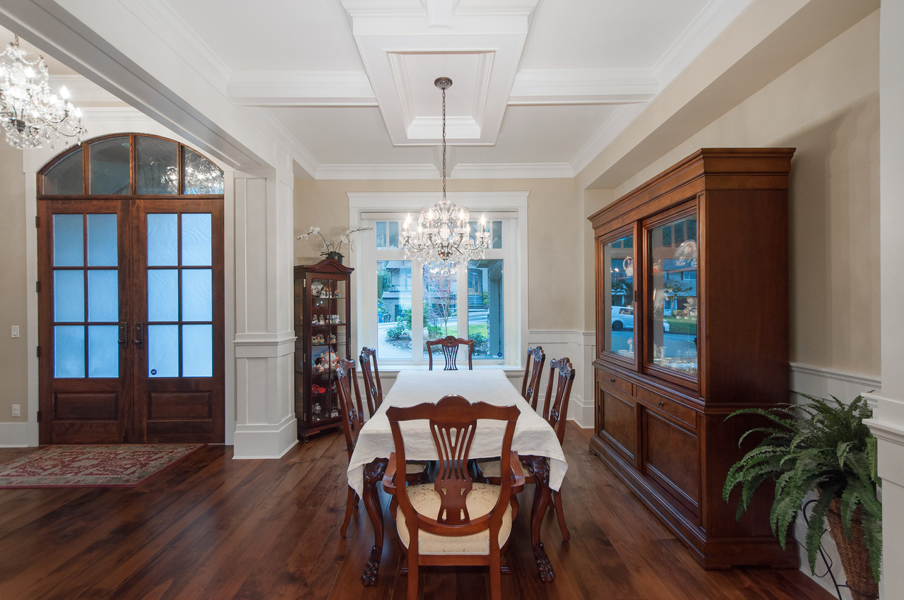 Formal Dining Room at 683 Sylvan Avenue, Canyon Heights NV, North Vancouver