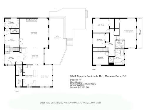 3941franpenrd-floorplancopy at 3941 Francis Peninsula Road, Pender Harbour Egmont, Sunshine Coast
