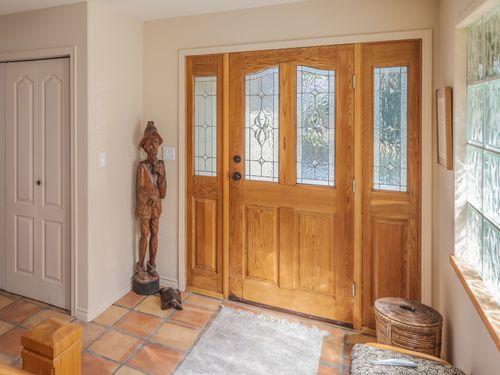 front-door at 3941 Francis Peninsula Road, Pender Harbour Egmont, Sunshine Coast