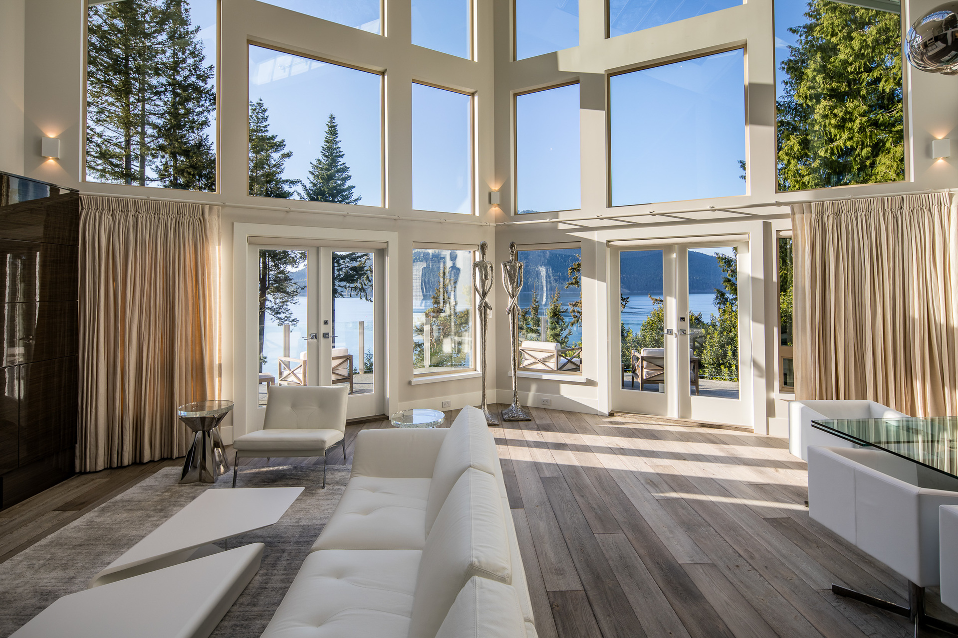 Main House Living Room at 518 Lands End Road, Lands End, North Saanich