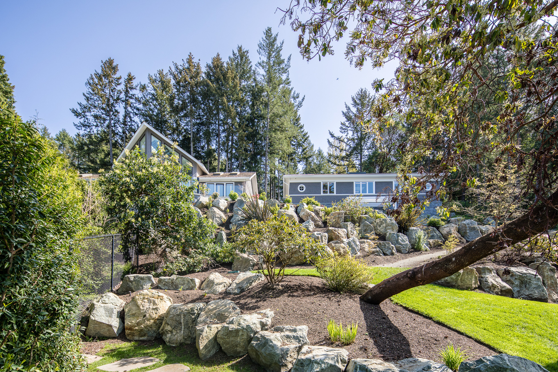 Grounds at 518 Lands End Road, Lands End, North Saanich