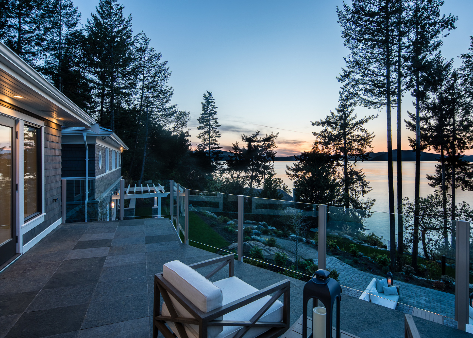 Sunset Deck Views at 518 Lands End Road, Lands End, North Saanich