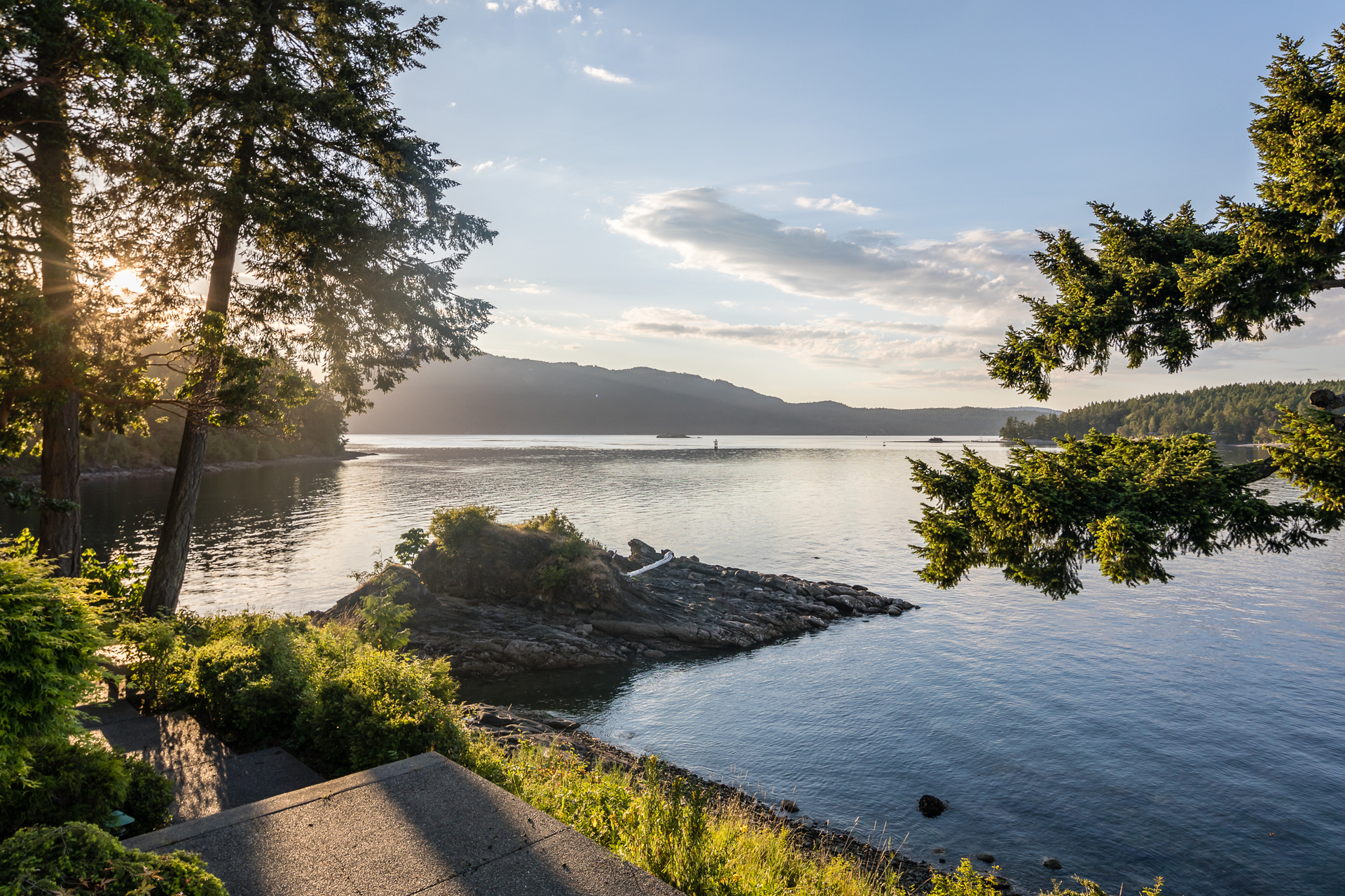 Extraordinary Views Of The Satellite Channel at 1850 Lands End Road, Lands End, North Saanich
