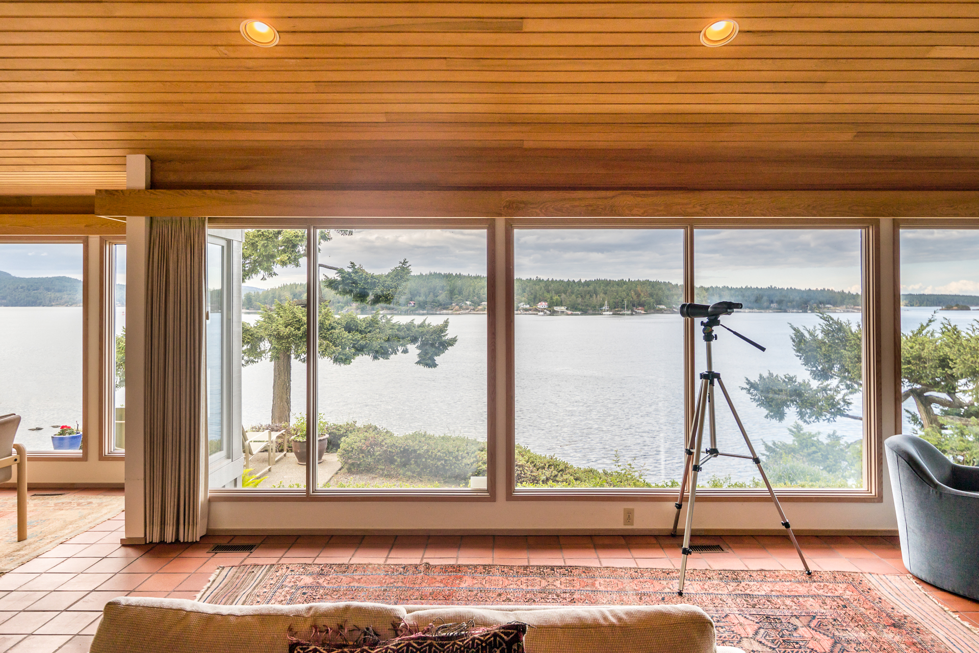 Panoramic Ocean Views at 1850 Lands End Road, Lands End, North Saanich