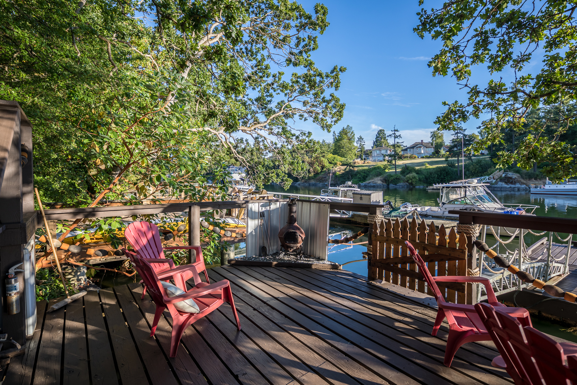 Easy access to Victoria's Harbour from your own dock and moorage at 17 Lotus Street, Burnside, Victoria