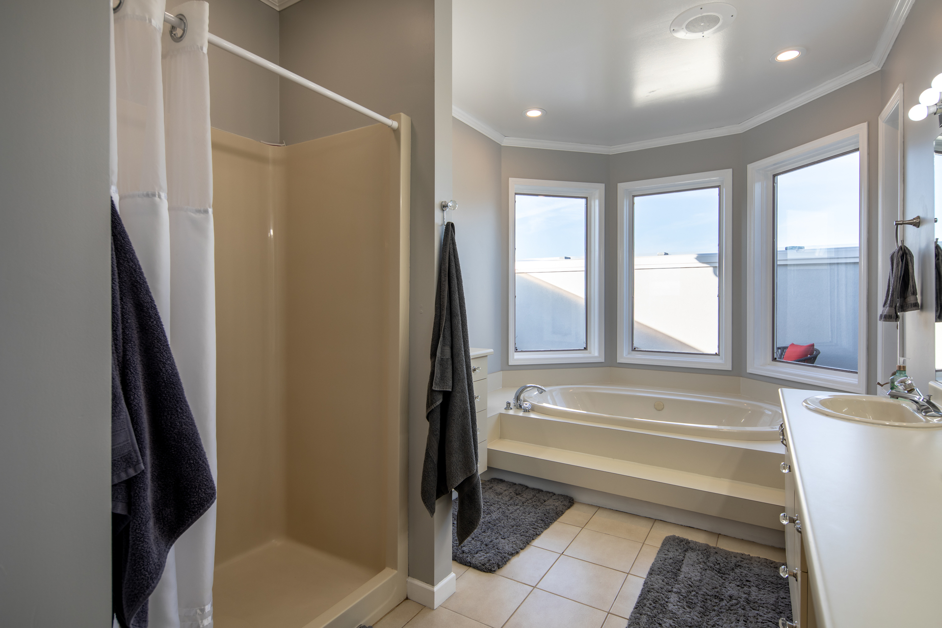 Master Bathroom at 1950 Highfield Road, Keating, Central Saanich