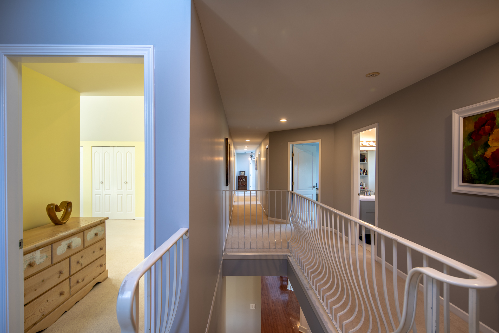 Upper Floor Stairwell at 1950 Highfield Road, Keating, Central Saanich