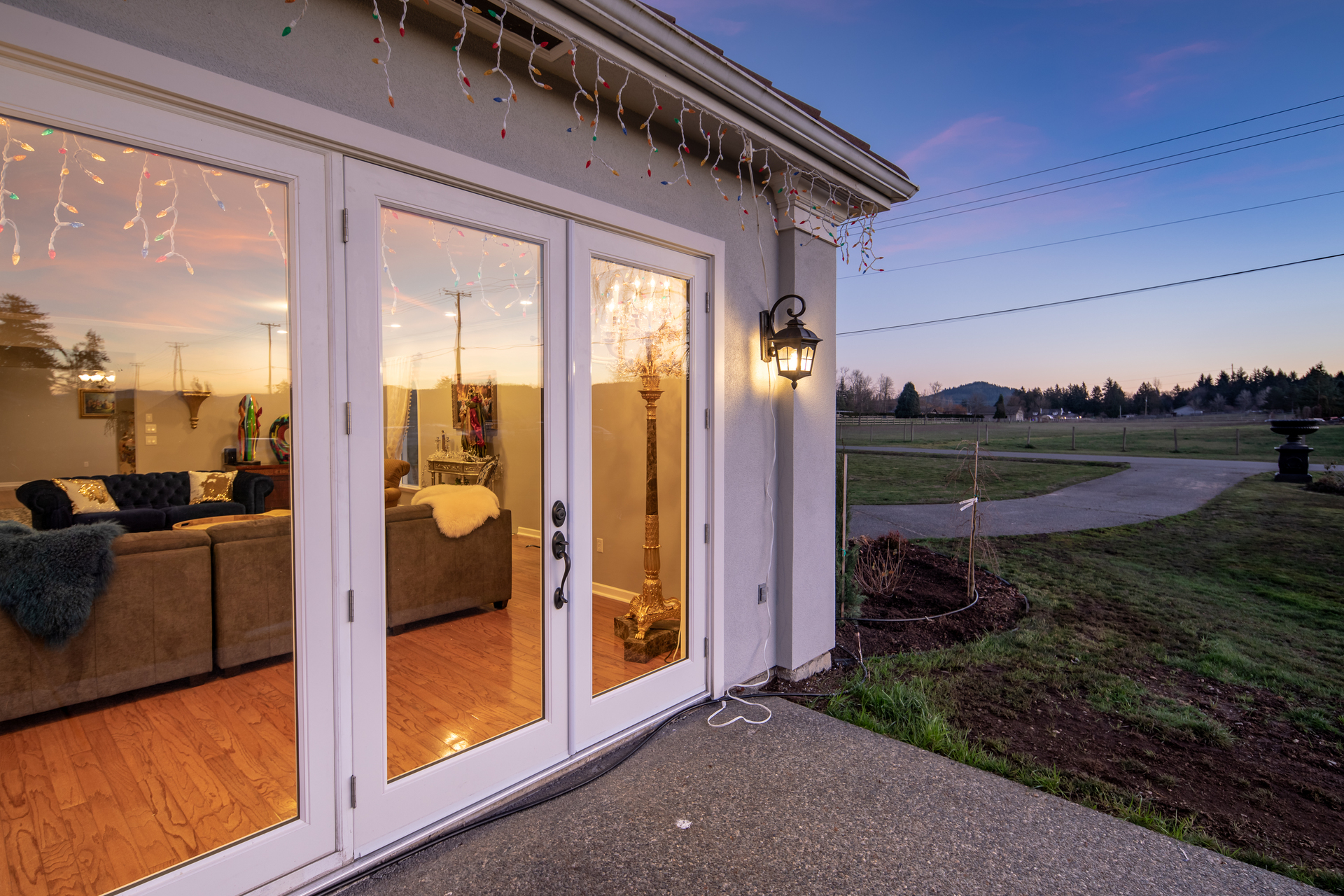 Rear Patio View at 1950 Highfield Road, Keating, Central Saanich