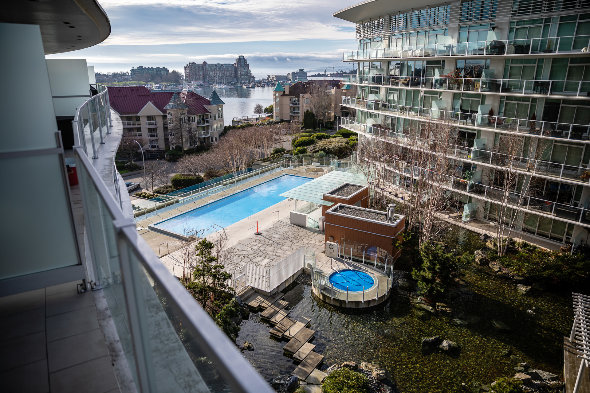 Condo Included Pool & Hot Tub Access at 503 - 66 Songhees Road, Songhees, Victoria West