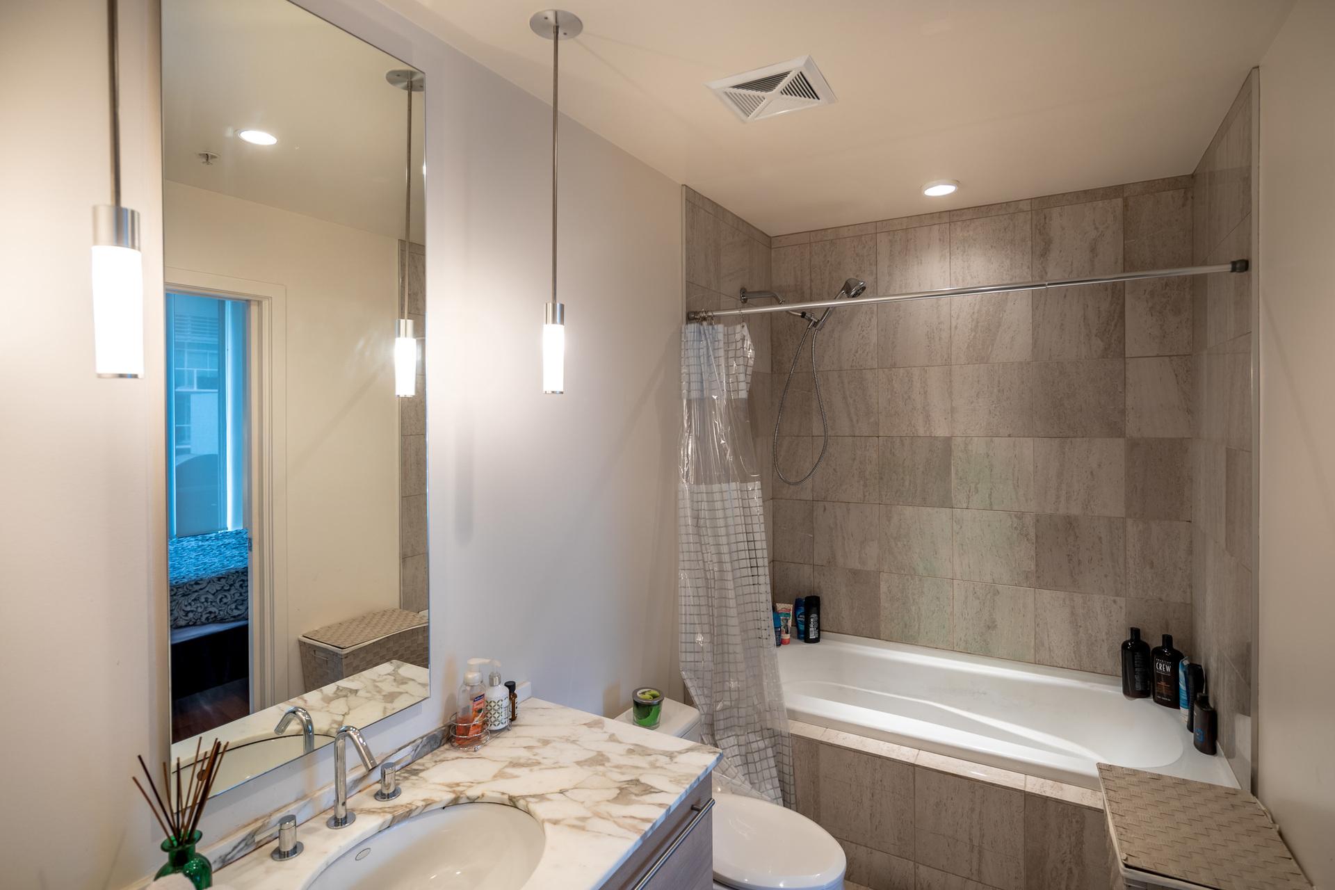 Tiled Bathroom at 503 - 66 Songhees Road, Songhees, Victoria West
