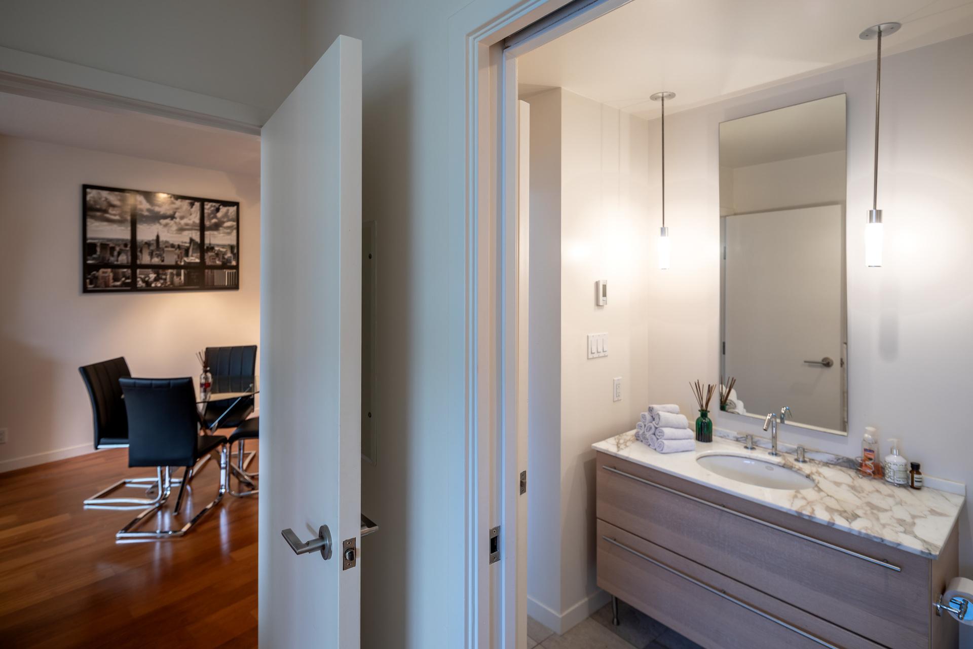 Bathroom & Dining Area at 503 - 66 Songhees Road, Songhees, Victoria West