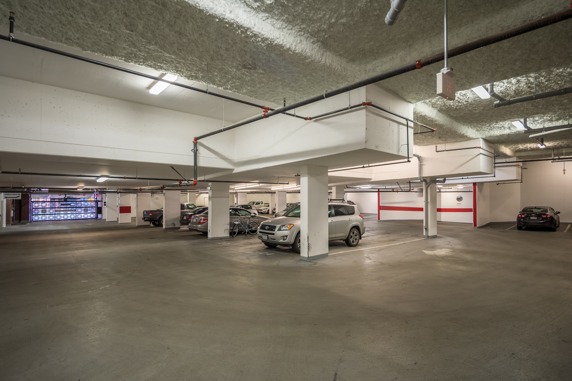 Underground Parking at 201 - 517 Fisgard Street, Downtown, Victoria