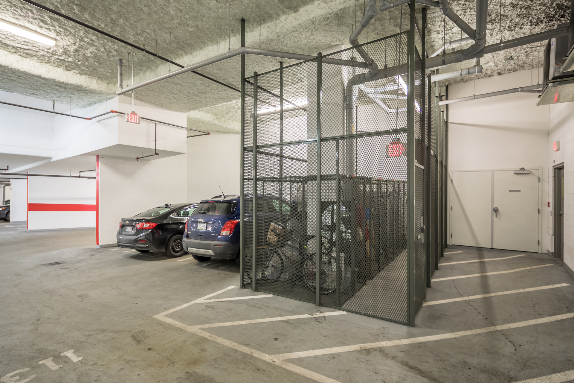 Underground Bike Storage at 201 - 517 Fisgard Street, Downtown, Victoria
