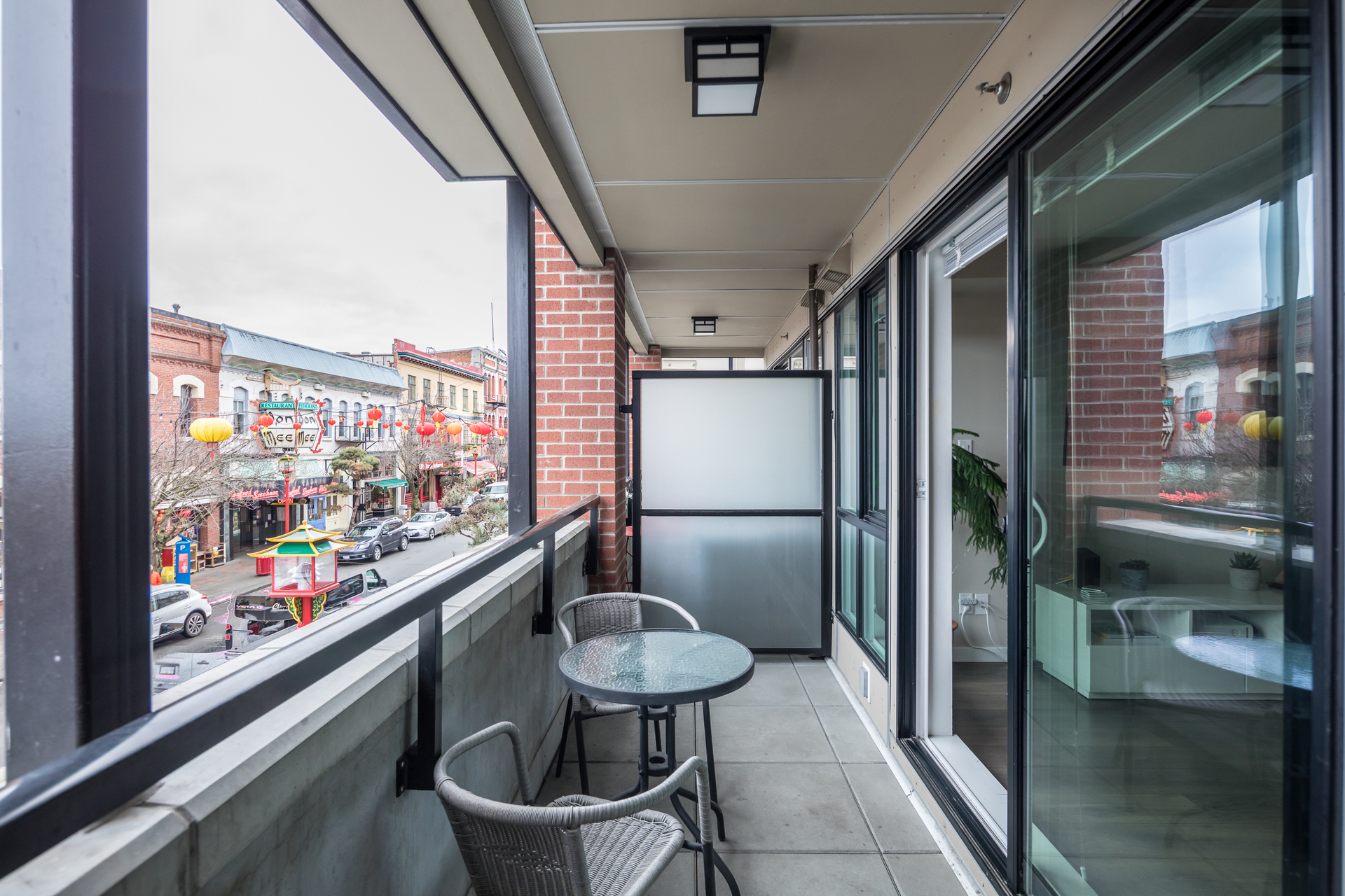 Balcony at 201 - 517 Fisgard Street, Downtown, Victoria