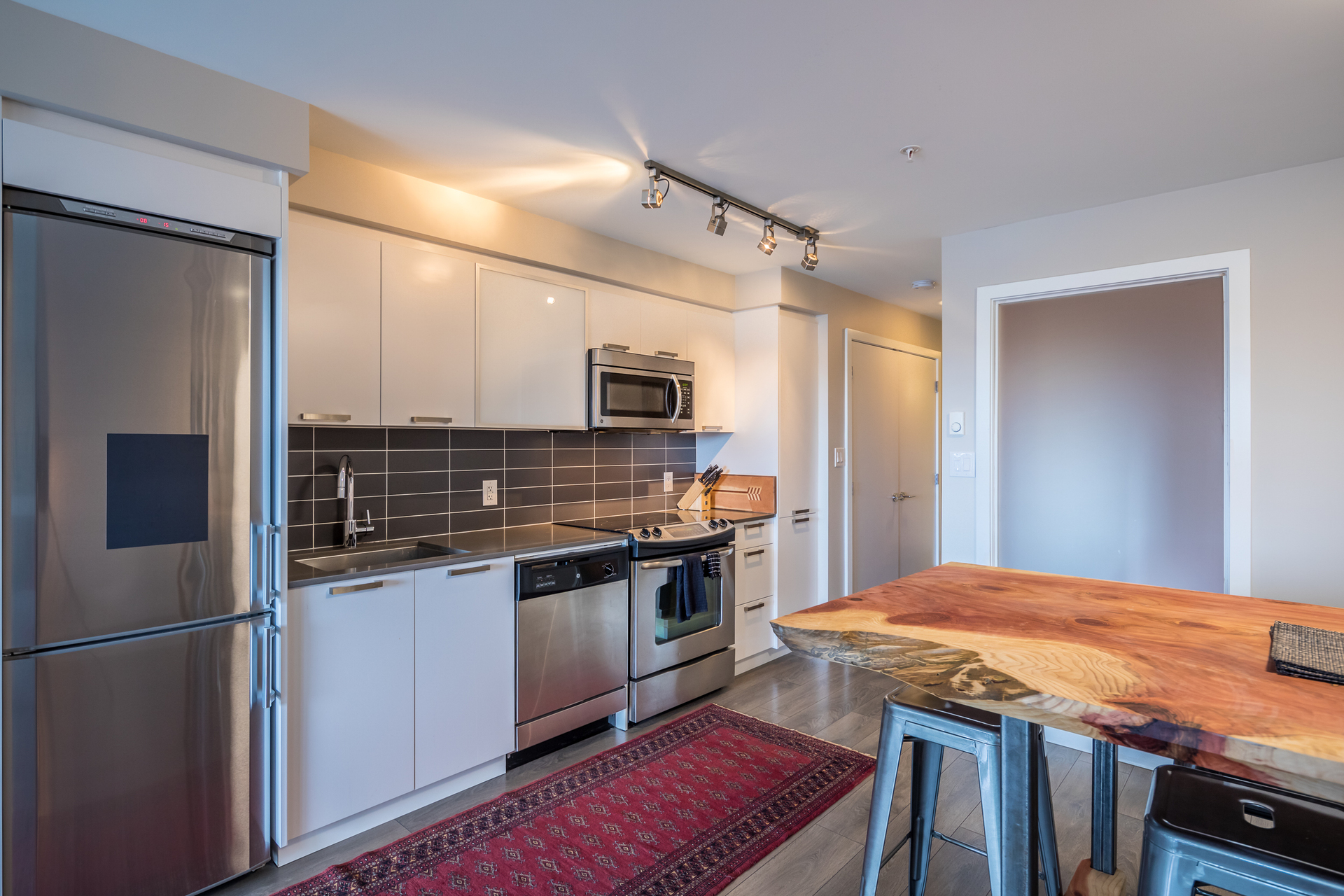 Kitchen at 201 - 517 Fisgard Street, Downtown, Victoria