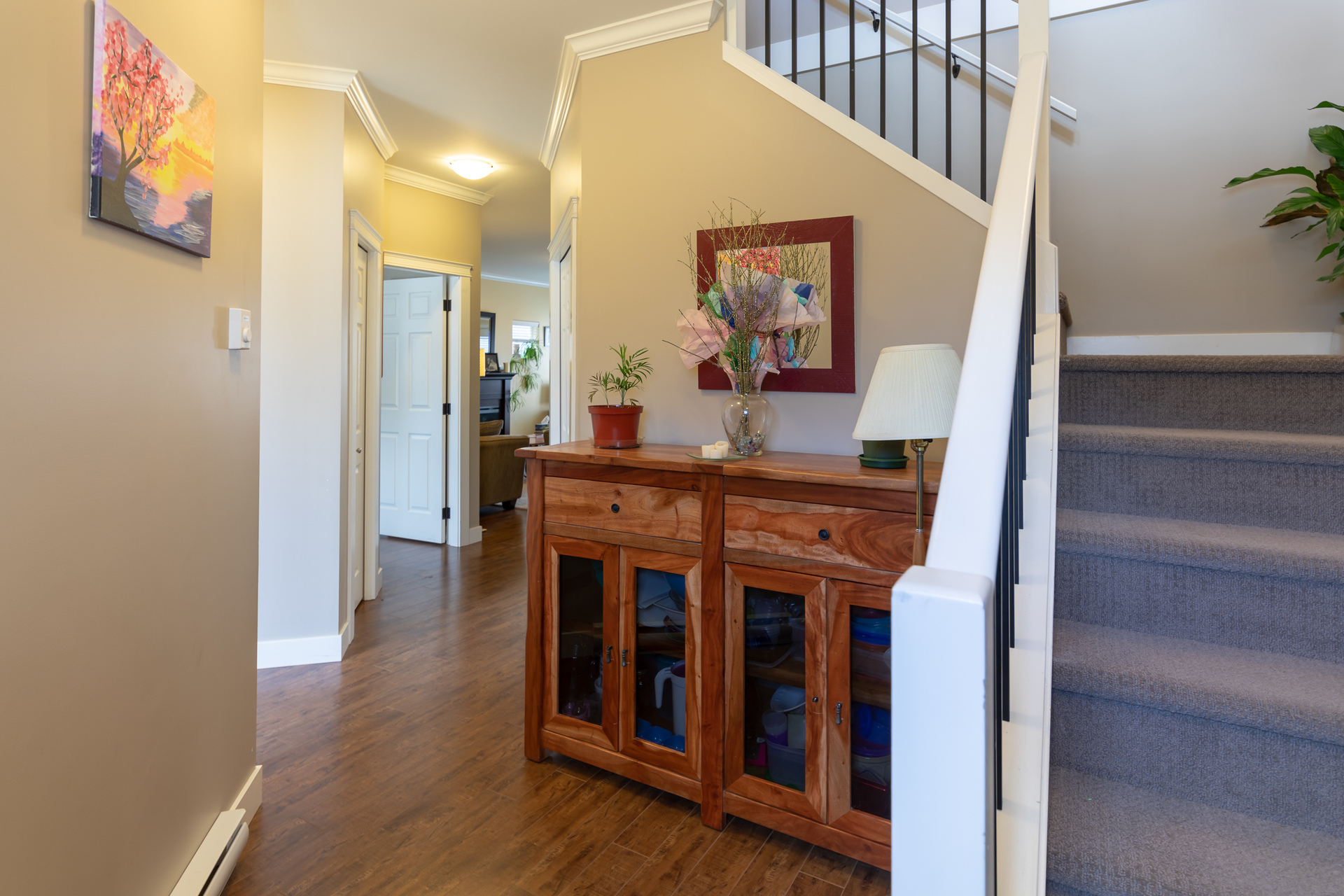 Entryway and Staircase at 3288 Merlin Road, Happy Valley, Langford