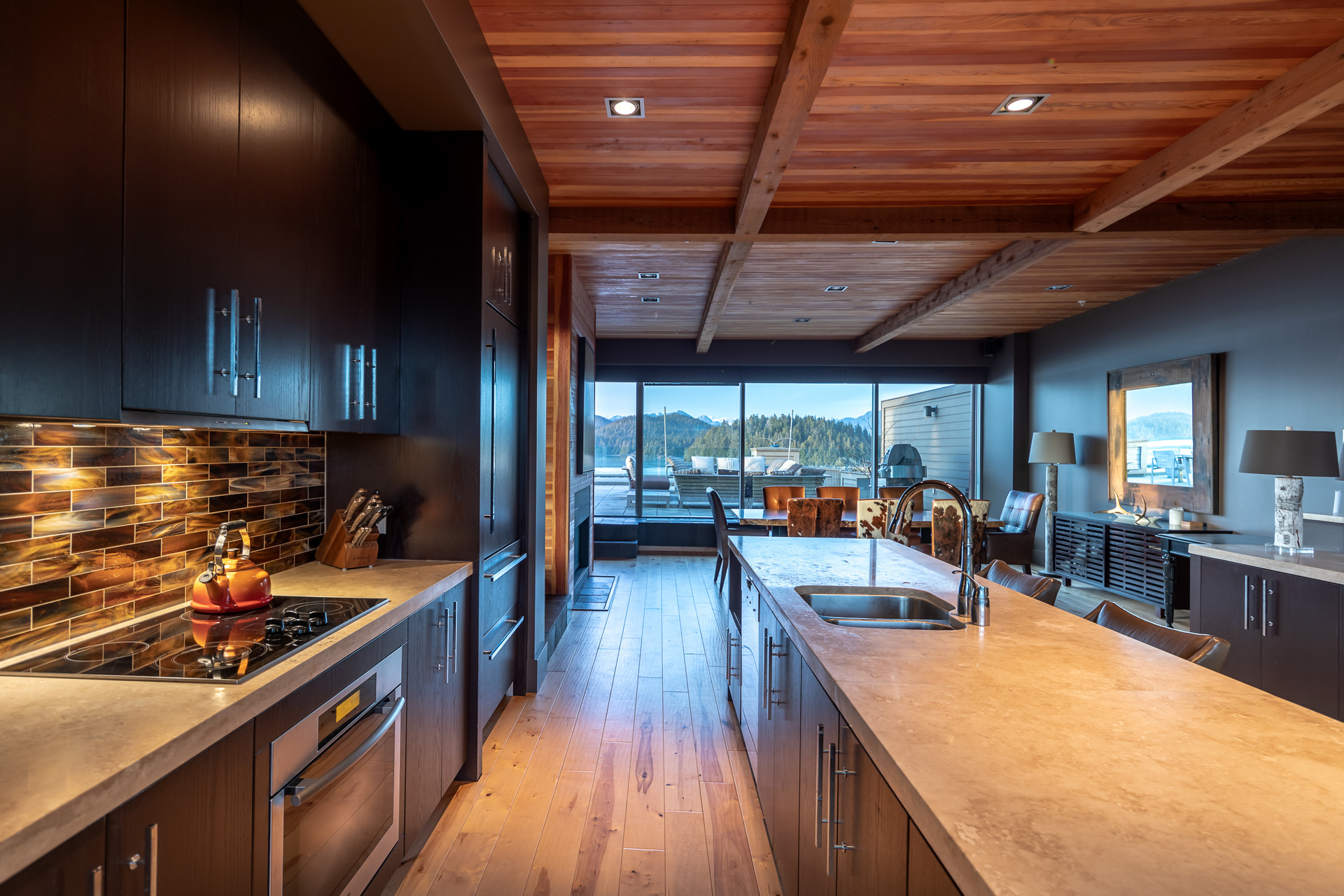 Kitchen & Dining Area at 401 - 368 Main Street, Tofino Tofino, Vancouver Island