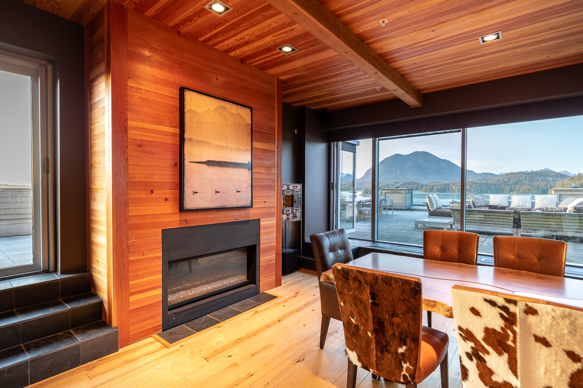 Dining Area & Door To Secondary Rooftop Patio at 401 - 368 Main Street, Tofino Tofino, Vancouver Island